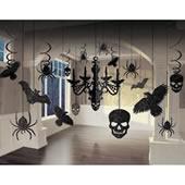 晶鑽黑蝙蝠吊燈布置[T3]