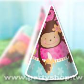 花朵猴-三角帽/8入[T6]
