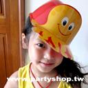 紅章魚塑膠帽[T6]