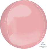 16吋 立體鏡面圓球 淺粉[T6]
