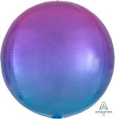 16吋 立體鏡面圓球 粉漸層藍[T6]