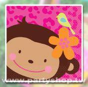 花朵猴-小紙巾/16入{T6]