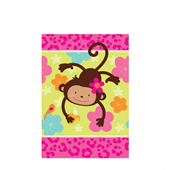 花朵猴-紙桌布[T3]