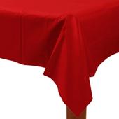 紅-塑膠長桌巾{P3}