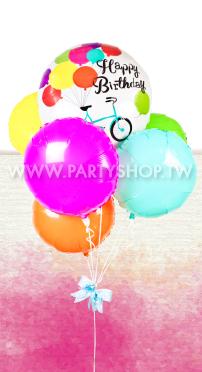 腳踏車生日氣球