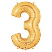 """7"""" 小亮金數字 3 [T5]"""