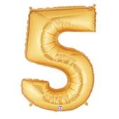 """7"""" 小亮金數字 5 [T5]"""