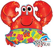36吋 花花紅螃蟹 氣球
