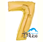 14吋 封條 小金色 數字 7[T5]