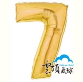 14吋 金色 數字 7 (已充氣)