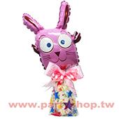 大眼粉兔糖果組_17300<客製商品需先付款>