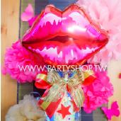 紅唇棉糖組_Q40213<客製商品需先付款>