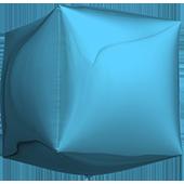 14吋 立體正方-淺藍[T5]