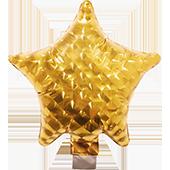7吋五角星-鑽石金[T10]