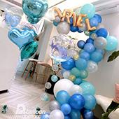 湛藍美人魚 生日佈置