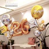 北歐款-經典簡約奢華生日氣球束