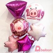 2019豬年球束