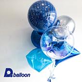 藍孔雀球束