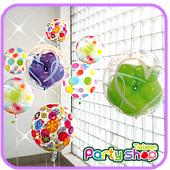 彩色點點(生日)泡泡氣球組/ 8顆