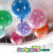 粉嫩印花泡泡氣球組/ 6顆<可宅配>