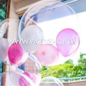 粉嫩春色泡泡氣球組/ 6顆<可宅配>