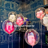 甜蜜花朵泡泡氣球/ 6顆<可宅配>