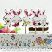 耍寶兔兔-造型蠟燭[T8]