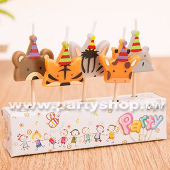 派對帽動物-造型蠟燭[T8]