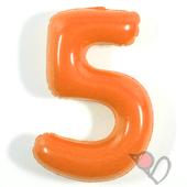 14吋 5-耐久數字-橘[T3]