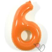 14吋 6-耐久數字-橘[T3]