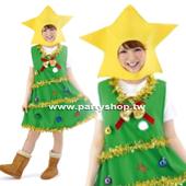 綠短聖誕樹裝