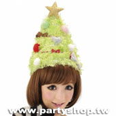 毛茸茸耶誕樹帽[T3]