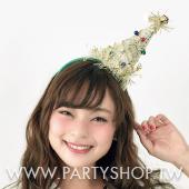 寶石聖誕樹髮箍-金[T4]