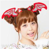 紅蝙蝠髮箍[T5]