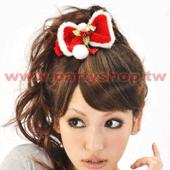 紅絨布蝴蝶結髮束[T4]