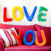 DIY字母球-LOVE YOU