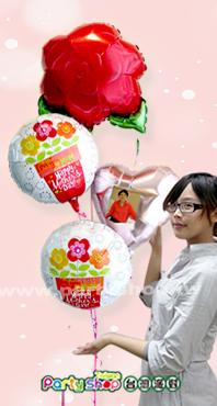 給世界上最好的媽媽+相片氣球