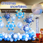 耶誕節雪花佈置
