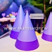 淺紫三角紙帽1大5小/6入[T8]