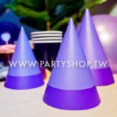 淺紫三角紙帽/6入[T8]