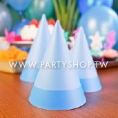 淺藍三角紙帽/6入[T8]