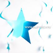 淺藍-亮面螺旋星/6入[T8]