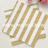 燙金-條紋紙巾/20入[T8]