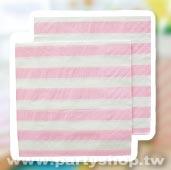 粉-條紋紙巾/20入[T8]