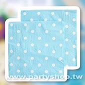 淺藍- 點點 紙巾/20入[T8]