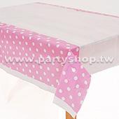 粉色-點點桌布[T4]