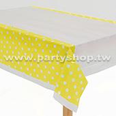 黃-點點桌布[T4]