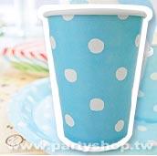 淺藍-點點紙杯/12入[T6]