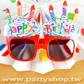 紅-杯子蛋糕眼鏡[T12]