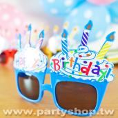 藍-杯子蛋糕眼鏡[T12]